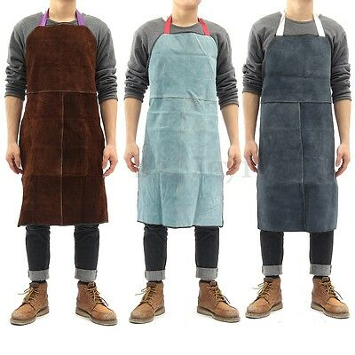 Welder Apron Heat Insulation Cow Leather cowhide Welding Protection 60x90cm