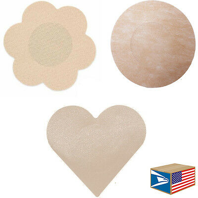 DISPOSABLE NIPPLE COVER Flower Heart Circle PASTIE STICKER LOT 10/30/50/100/1000