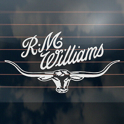 R.M Williams Longhorn Sticker 300mm rmw bns ute rm car window decal