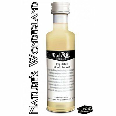 VEGETARIAN RENNET 50ml Bottle - CHEESEMAKING Enzyme for coagulation - Mad Millie