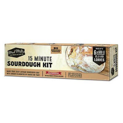SOURDOUGH Bread KIT Make Artisan Loaf in15 mins -Wholemeal, Fruit etc Mad Millie