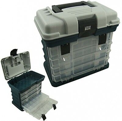 Storage Carry Case With 4 Adjustable Compartment Storage Boxes, Fishing Tackle