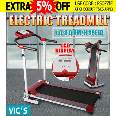 Electric Treadmill Exercise Equipment Machine Walking Fitness Home Gym Compact
