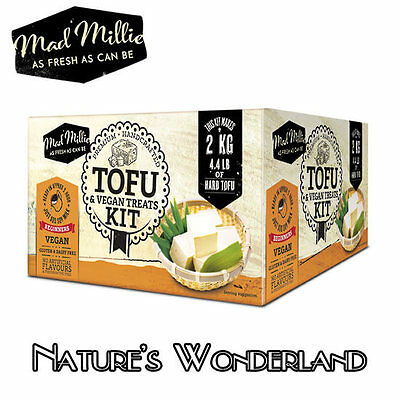 TOFU and VEGAN TREATS KIT - for healthy Bean Curd - includes RECIPES -Mad Millie
