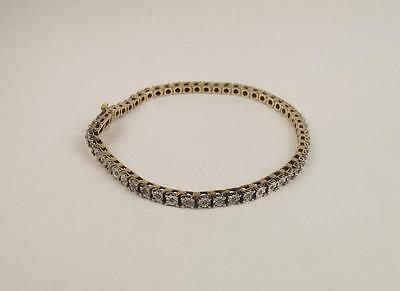 9ct Yellow Gold 0.55 Carat Diamond Studded Tennis Bracelet