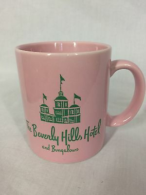 Beverly Hills Hotel and Bungalows Mug Vintage Pink Green Rodeo Drive Hollywood