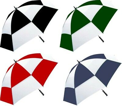 Golf Double Vented Canopy Wind Resistant Soft Rubber Handle Stormshield Umbrella