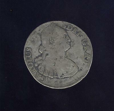 Worn 1805 Mexico City Mint 8 Real, Ex: Mendel Peterson Collection, Free USA Ship