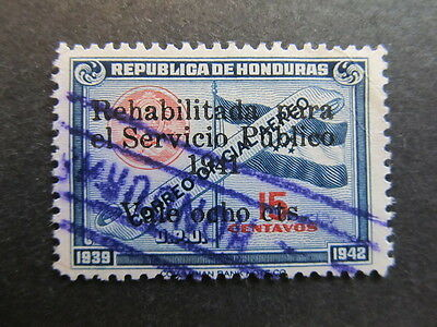 A4P11 Honduras Air Post Stamp 1941 surch 8c on 15c used #17