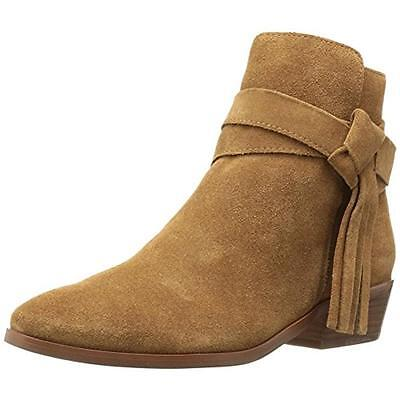 Guess 3839 Womens Carmin Tan Suede Ankle Booties Shoes 6 Medium (B,M) BHFO