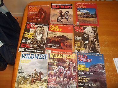 Lot Of 9 Old West & Wild West Magazines