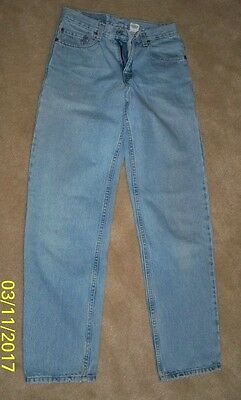 LEVI'S 550 Relaxed Fit Light Blue Jeans Tagged 29 or 32 Low Wear