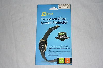 New JeTech Apple Watch 38mm 0.21mm 9H Tempered Glass Screen Protector