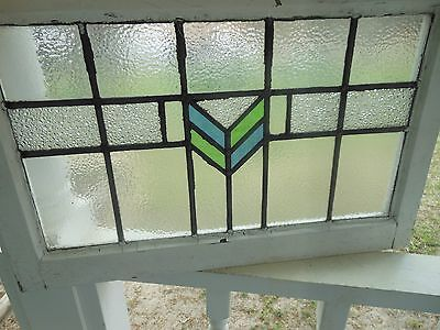 DUR-144 Older Transom Style Leaded Stained Glass Window F/England 3 Available