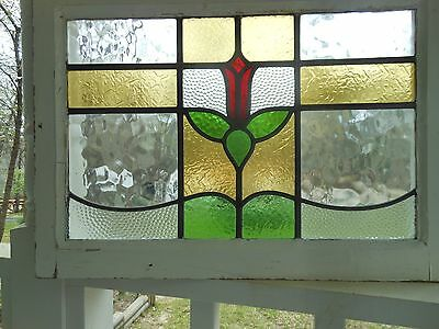 DUR-146 Older Transom Style Leaded Stained Glass Window F/England 3 Available