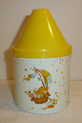 Vintage 1983 Care Bears Tin Container with Plastic Lid - Cheinco Catching Stars