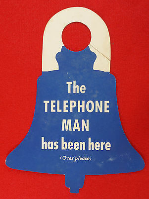 1955 Pacific Telephone And Telegraph Company New Phone Notice Door Hanger + Card