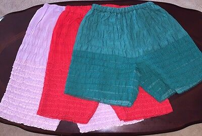 Square Dance 3 Pettipants- Red, Green & Lavender-Large