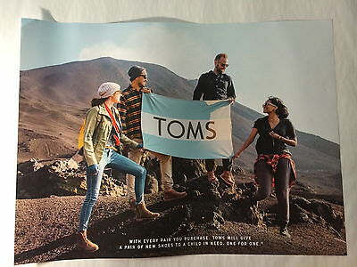 "New TOMS SHOES POSTER 18"" X 24"" skateboard longboard snowboard inspiration"