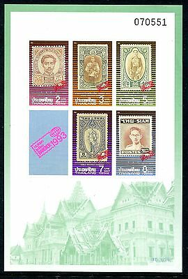 Thailand 1993 Bangkok Stamp Exhibition Imperf MS MNH