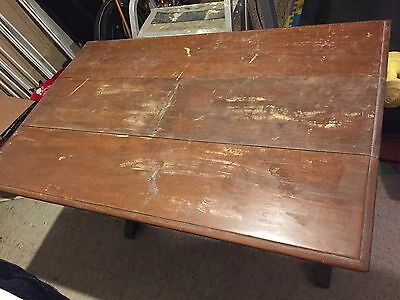 ANTIQUE Table w Butterfly DRAW LEAF