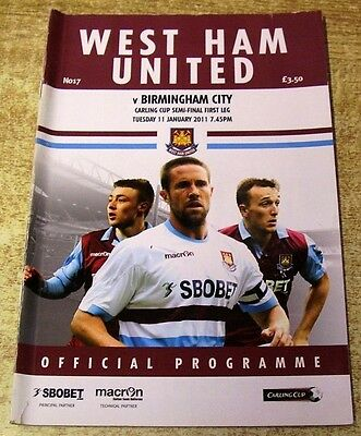 2010/11 CARLING CUP SEMI FINAL - WEST HAM UNITED v BIRMINGHAM CITY - 11/01/2011