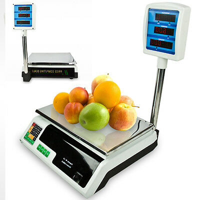 New 60-66lb Computer Digital Food Produce Counting Electronic Weight Price Scale