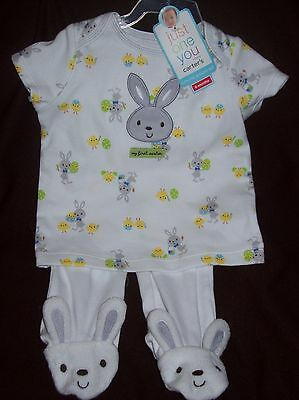 """Carters EASTER """"turn me around set"""" baby 2pc outfit unisex 6 month"""