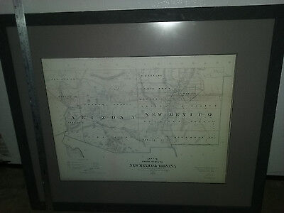 1866 New Mexico & Arizona Map sketch Accompany report commissioner land office