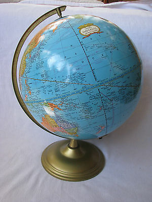 "Vintage Cram's Imperial World Globe 16"" Tall"