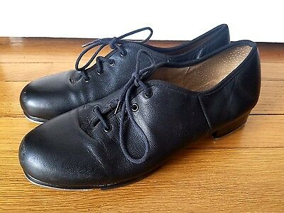 CAPEZIO Gold Series Women's Adult Black Leather Tap Shoes 9.5 CG09