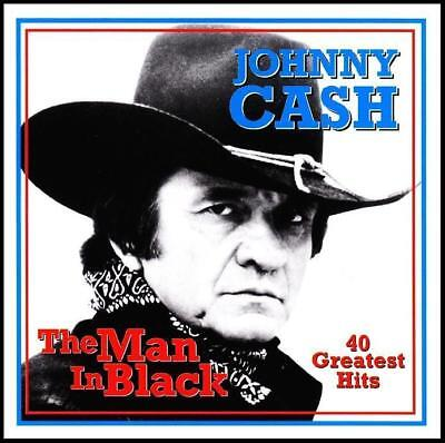 JOHNNY CASH (2 CD) THE MAN IN BLACK : 40 GREATEST HITS / BEST OF ~ 70's *NEW*