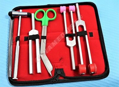 PREMIUM Tuning Fork SET  + BUCK HAMMER + SCISSOR SURGICAL MEDICAL INSTRUMENT NEW