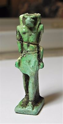 Zurqieh -Af1794-  Ancient Egypt , Huge Faience Amulet Of Anubis. 600 - 300 B.c