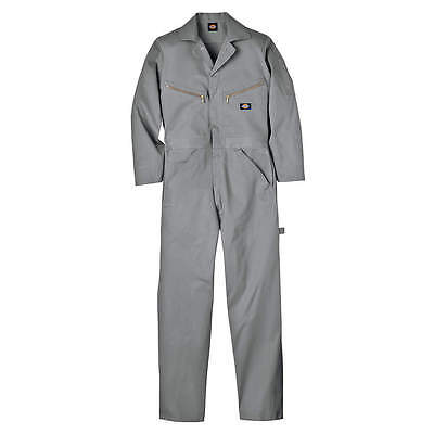 Dickies Long Sleeve Coveralls, Cotton, Gray, XL 48700GY-XL