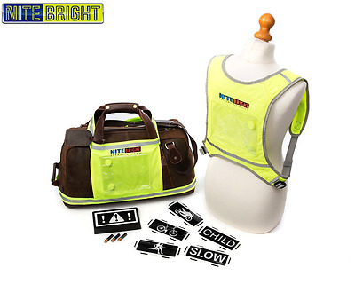 Hi Vis Safety Reflective Vest / Bib for Running Gear, Equestrian, Motorcycle ove