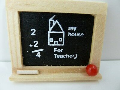 Dolls House Miniature 1:12th Scale Nursery School Chalkboard Toy (TA47)