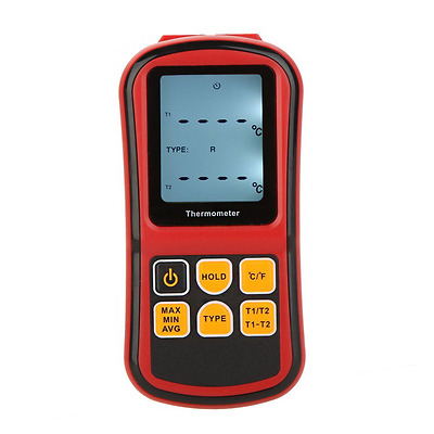 KKmoon GM1312 Digital Thermometer Dual-channel Temperature Meter Tester for K/J/