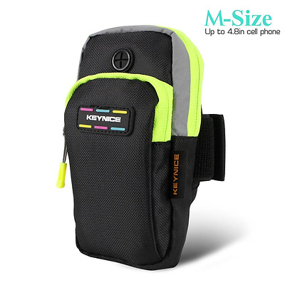 Keynice Sports Armband Double Pockets Multifunctional Outdoor Arm Bag for iPhone