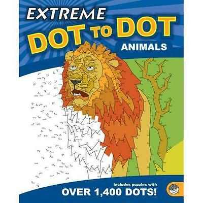 Extreme Dot To Dot Colour Book Drawing Puzzle Children Adult Challenge - Animals