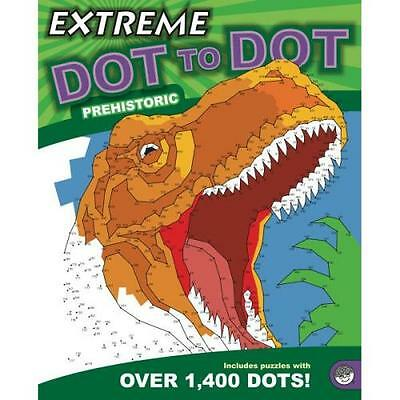 Extreme Dot To Dot Colour Book Drawing Puzzle Children Adult - Prehistoric