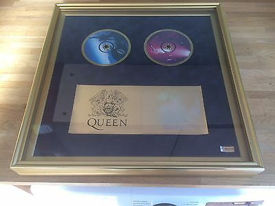 Queen BOX SET Ultimate Queen 20 GOLD CD ALBUMS wall mountable display cabinet