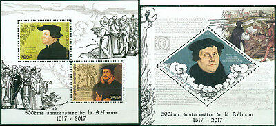 Reformation Martin Luther Calvin Zwingli Religion Protestantism Benin MNH stamp