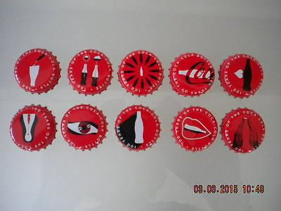Coca-Cola Set Of 10 Crown Bottle Caps 100 Years Of Coca-Cola Bottle From Greece!