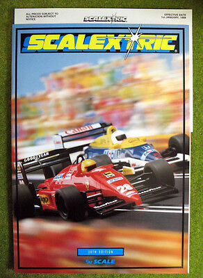 SCALEXTRIC 1989 ~ 30th Edition Catalogue ~ NEW