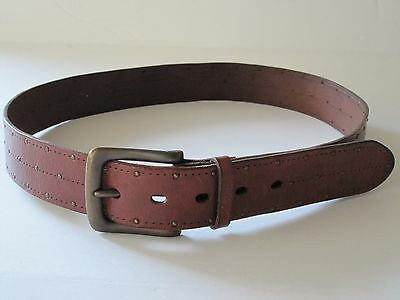Medium AMERICAN EAGLE OUTFITTERS Brown Studded Leather Belt Size M Unisex