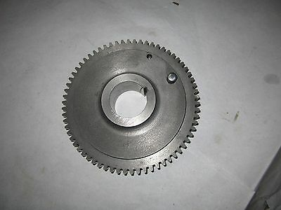 "Original Seneca Falls Star Lathe 10"" Headstock Spindle Bull Gear Back Excellent"