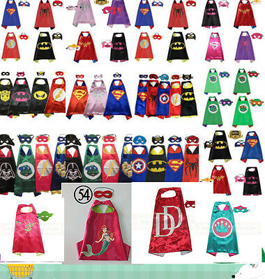 ~Boys/Girls Superhero Cape/Mask for kids birthday party favors and ideas Costume