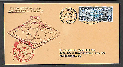 Personalized C15 Zeppelin 1930 FDC Reproduction on Original Period Paper *041