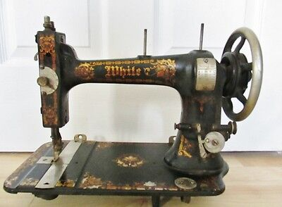 Early 1906?  White Treadle Sewing Machine Head/all Parts Move Freely
